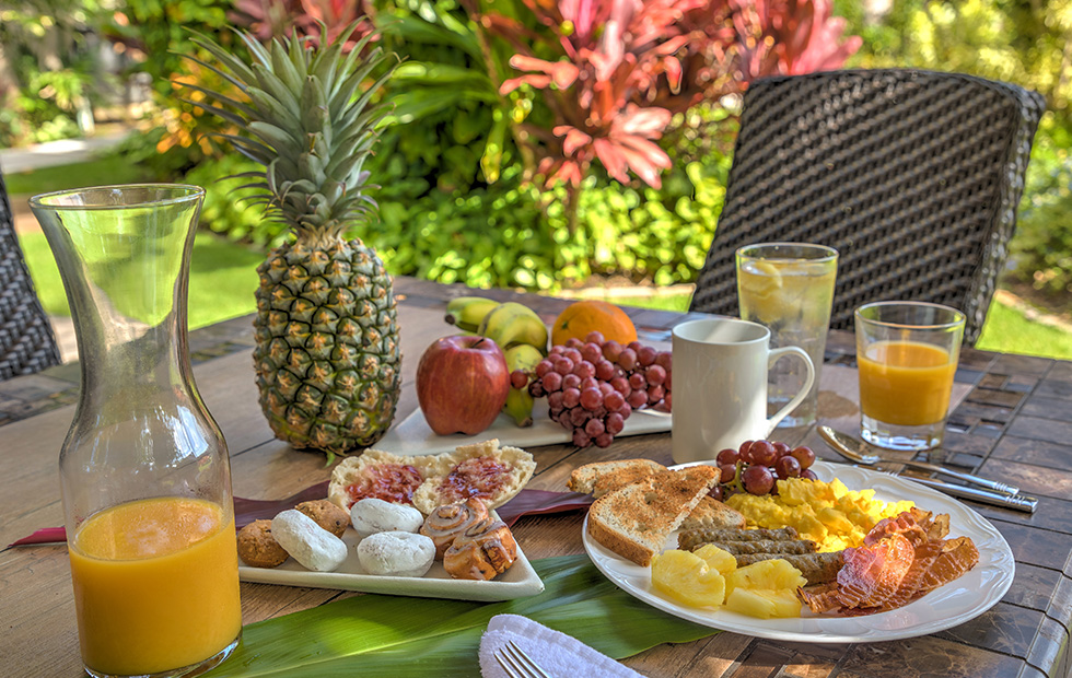 Start your day off with our complimentary full breakfast