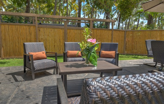 Welcome To Kohea Kai Hotel - Garden Patio Seating
